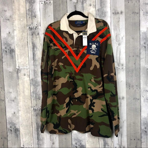 d4ef44931 Polo Ralph Lauren Camo Rugby Polo Shirt Size XL